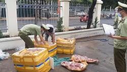 300kg thịt heo không rõ nguồn gốc bị bắt giữ khi đang từ Quảng Nam vào Đắk Lắk tiêu thụ