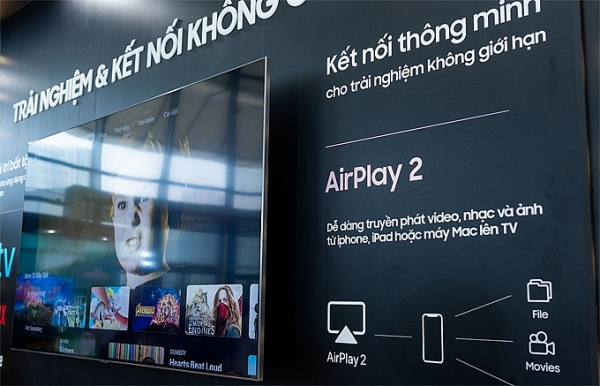 mot so samsung smart tv co the su dung apple tv va airplay 2