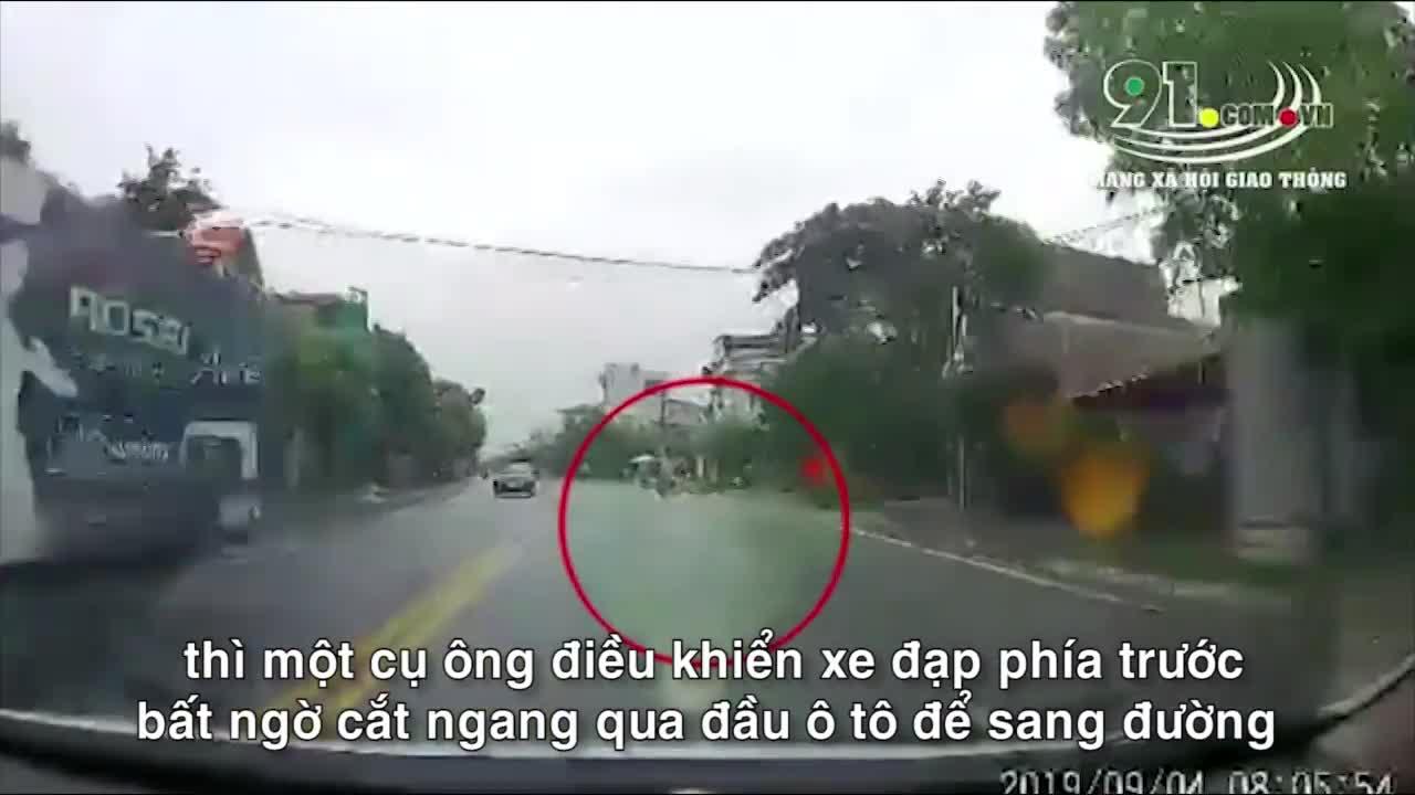 cu ong cat duong dut khoat o to phanh chay lop