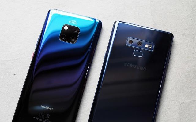 smartphone tai chau au samsung dan dau huawei vuot kho de xep thu 2