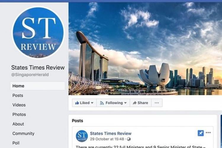 singapore yeu cau facebook phai dinh chinh thong tin sai su that