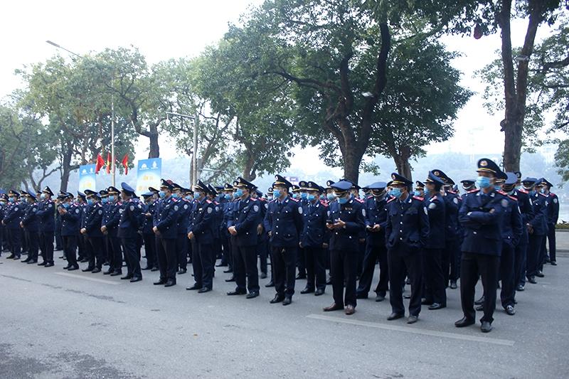 Các đơn vị chức năng của thành phố Hà Nội dự Lễ Phát động ra quân Năm An toàn giao thông 2021 và đợt cao điểm bảo đảm TTATGT Tết Nguyên đán và Lễ hội Xuân