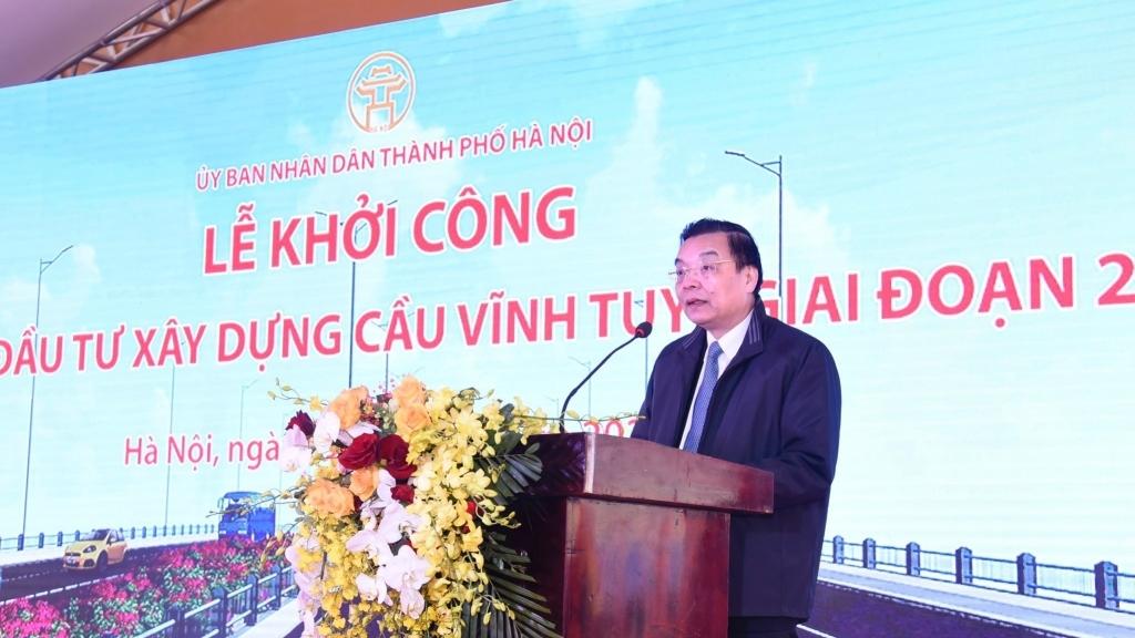 Hà Nội khởi công xây dựng cầu Vĩnh Tuy giai đoạn II