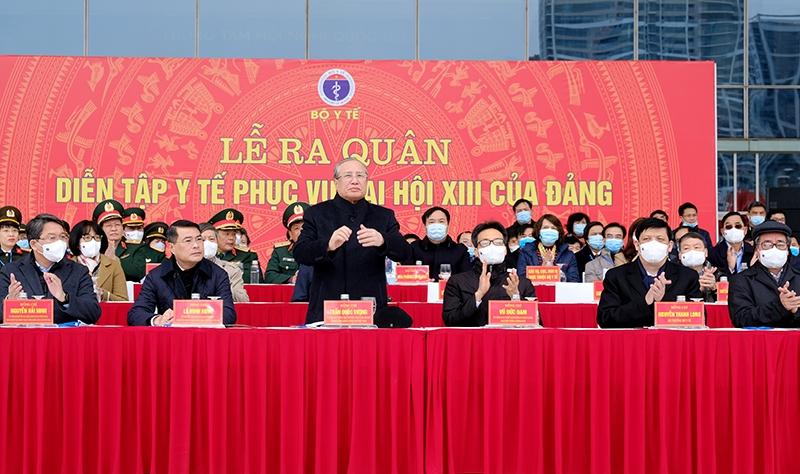 Các đồng chí tham dự buổi lễ