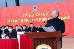 Lễ xuất quân và diễn tập y tế phục vụ Đại hội Đại biểu toàn quốc lần thứ XIII của Đảng