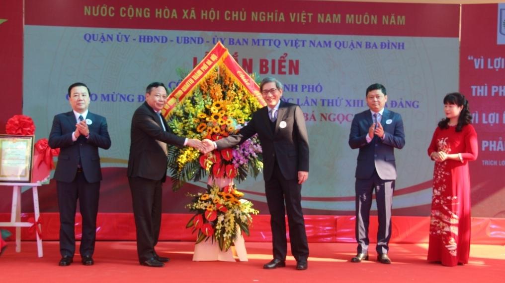 Hà Nội gắn biển 2 công trình trường học chào mừng Đại hội XIII của Đảng