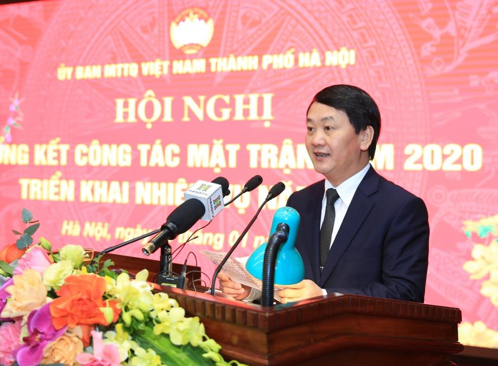 Mặt trận Tổ quốc Việt Nam TP Hà Nội đón nhận Huân chương Lao động Hạng Ba trong công tác phòng, chống dịch Covid-19