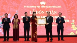 Mặt trận Tổ quốc Việt Nam TP Hà Nội đón nhận Huân chương Lao động hạng Ba