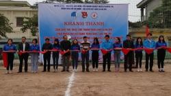 Khánh thành công trình sân chơi thể thao tặng thanh thiếu nhi xã Hà Hồi