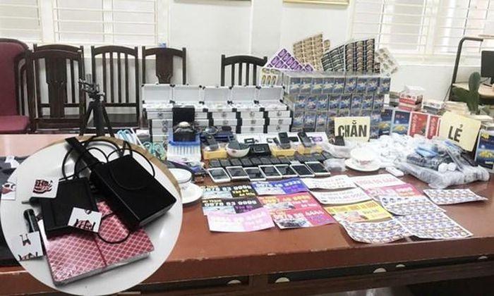 Hà Nội: Đột kích kho thiết bị cờ bạc bịp