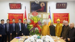 Chủ tịch UBND TP Chu Ngọc Anh chúc Tết Giáo hội Phật giáo Việt Nam TP Hà Nội