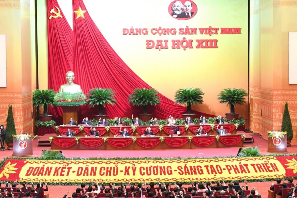 Đại hội đại biểu toàn quốc lần thứ XIII của Đảng đang diễn ra tại Trung tâm Hội nghị Quốc gia, Mỹ Đình, Hà Nội