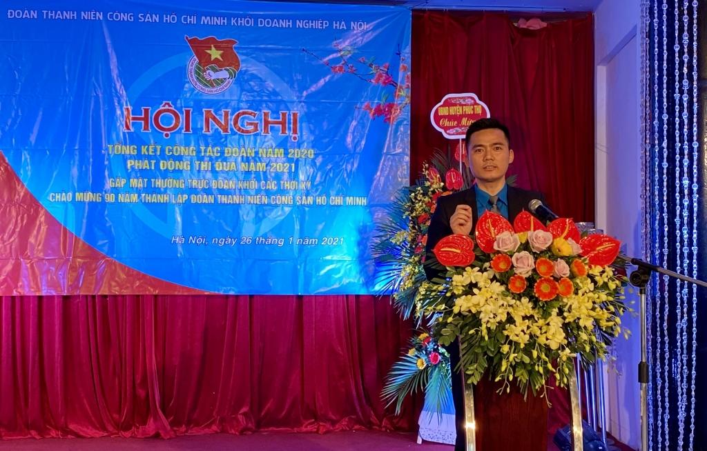 Anh Lý Duy Xuân phát biểu tại hội nghị