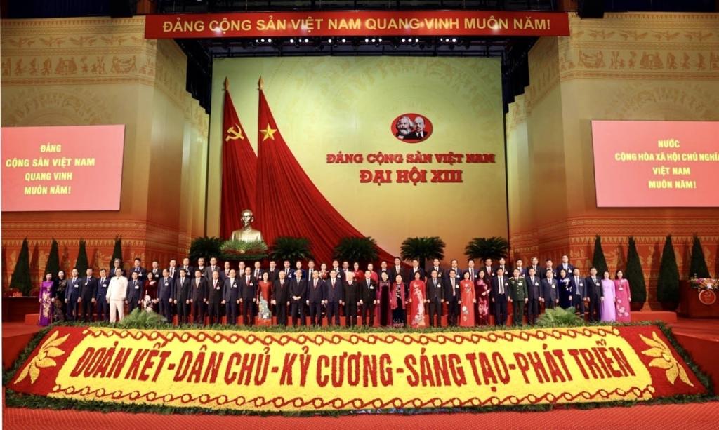 Đoàn đại biểu TP Hà Nội tại phiên khai mạc Đại hội