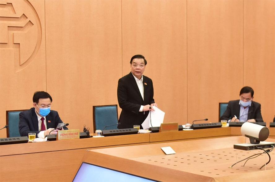 Chủ tịch UBND thành phố Hà Nội ra Công điện về phòng, chống dịch Covid-19