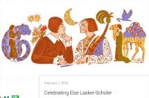 google doodle hom nay vinh danh nu thi si tru tinh vi dai else sch ler