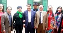 Chủ tịch UBND TP Hà Nội Nguyễn Đức Chung gặp gỡ văn nghệ sĩ, trí thức đầu xuân