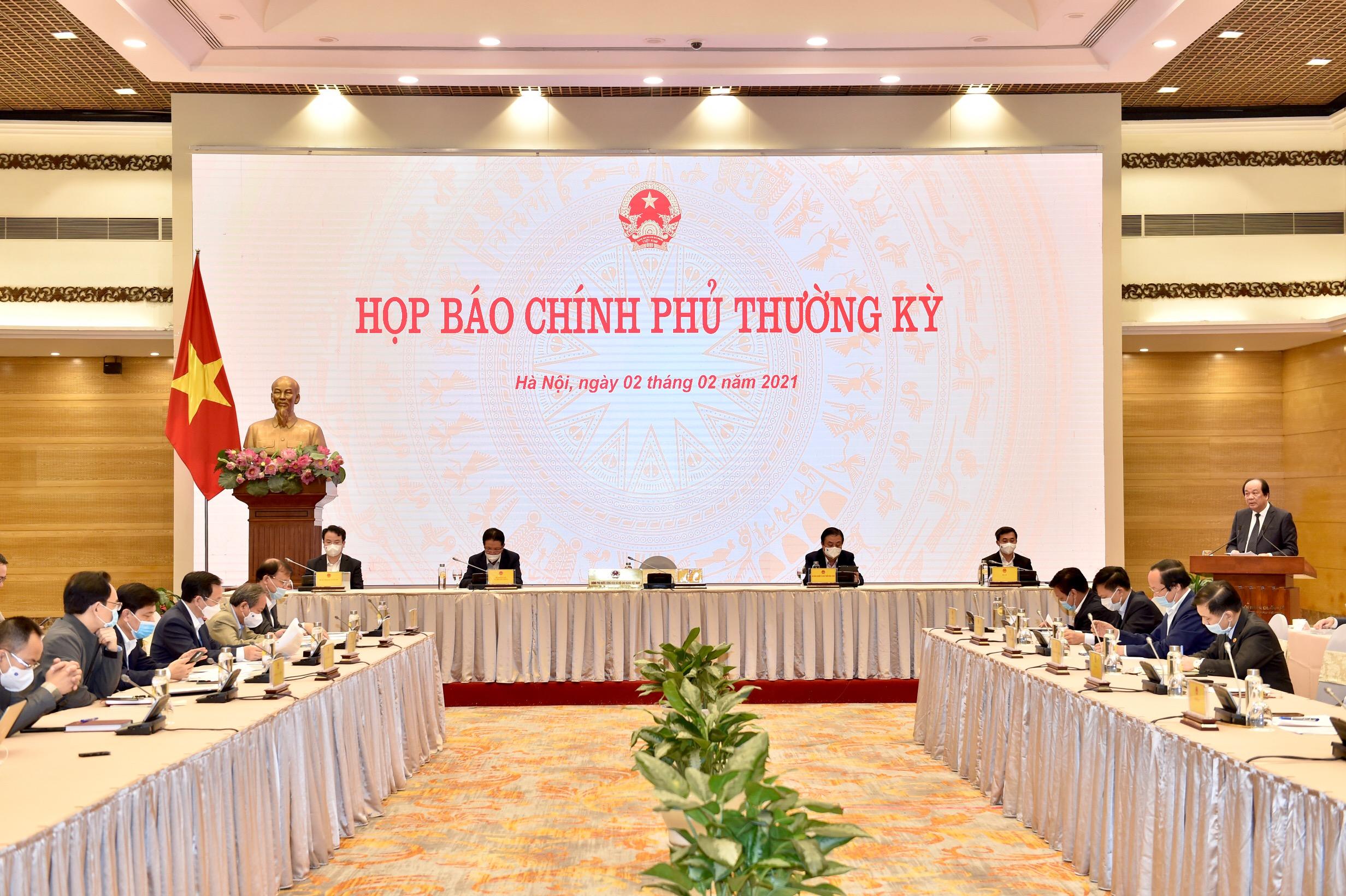 Chính phủ họp báo phiên thường kỳ đầu tiên của năm 2021