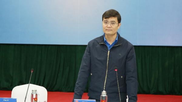 Anh Bùi Quang Huy, Ủy viên dự khuyết Trung ương Đảng, Bí thư Thường trực Trung ương Đoàn, Chủ tịch Trung ương Hội Sinh viên Việt Nam phát biểu khai mạc Hội nghị.