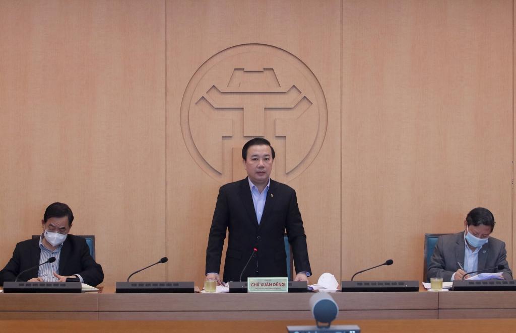Phó Chủ tịch UBND TP Hà Nội Chử Xuân Dũng phát biểu kết luận cuộc họp