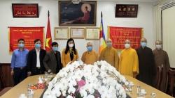 Chủ tịch Ủy ban MTTQ Việt Nam thành phố Nguyễn Lan Hương thăm, chúc Tết Giáo hội Phật giáo Việt Nam TP Hà Nội