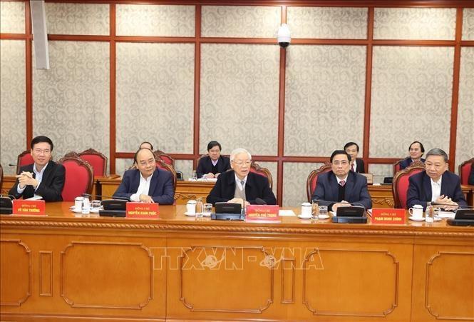 Tổng Bí thư, Chủ tịch nước chủ trì phiên họp đầu tiên của Bộ Chính trị, Ban Bí thư khóa XIII