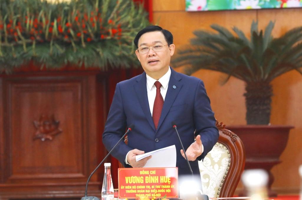 , Bí thư Thành ủy Hà Nội Vương Đình Huệ