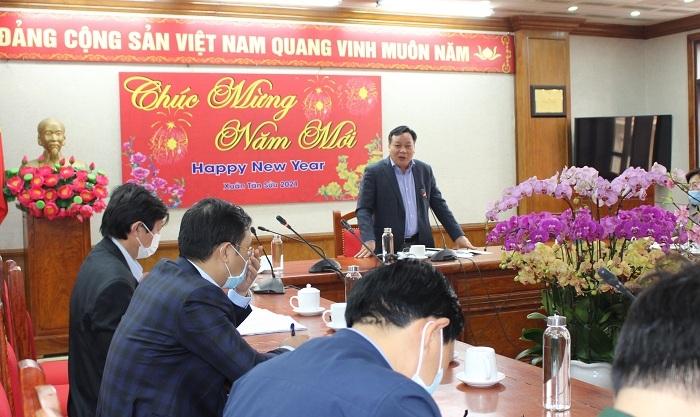 Phó Bí thư Thành ủy Nguyễn Văn Phong phát biểu tại buổi kiểm tra
