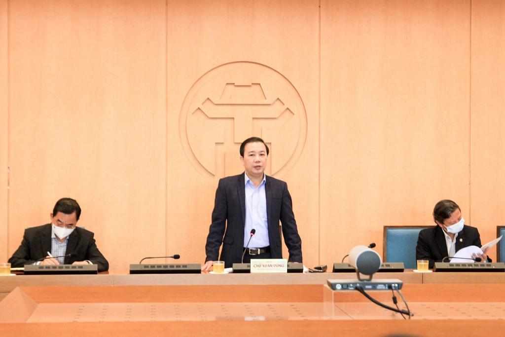 Phó Chủ tịch UBND TP Chử Xuân Dũng phát biểu chỉ đạo tại cuộc họp