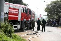 Hà Nội: Cháy lớn tại khu công nghiệp Kim Chung