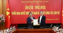Ban Bí thư bổ nhiệm Phó Trưởng Ban Kinh tế Trung ương 43 tuổi