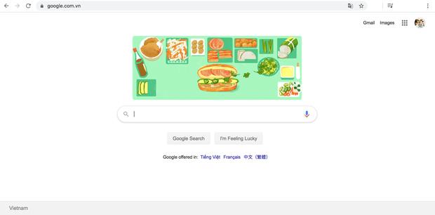 trang chu google doi logo de ton vinh banh mi viet nam