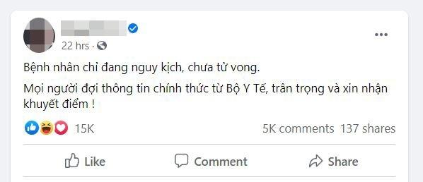 moi facebooker nguyen sin lam viec vu loan tin nguoi chet vi covid 19