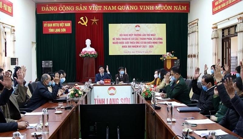 Các đại biểu tham gia hiệp thương lần thứ nhất