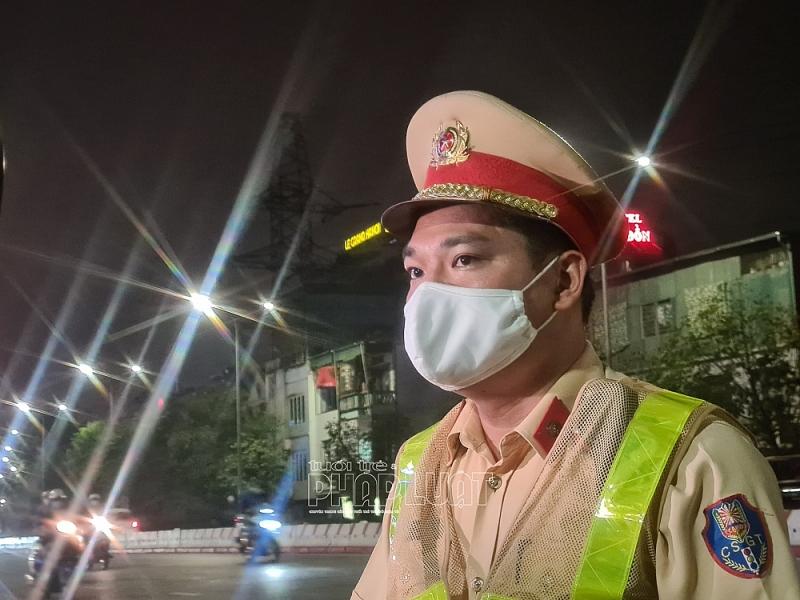 Thượng úy Lưu Văn Huy, Đội CSGT số 4 khẳng định theo chuyên đề xử lý vi phạm nồng độ cồn và ma túy sẽ không có vùng cấm