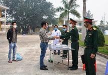 39 công dân Điện Biên hoàn thành cách ly tập trung 14 ngày trở về địa phương