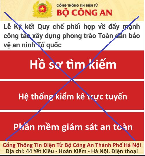 phat hien trang mang gia mao cong thong tin dien tu bo cong an