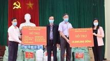 Thành phố Hà Nội hỗ trợ vật tư, nhu yếu phẩm cho xã Dũng Tiến