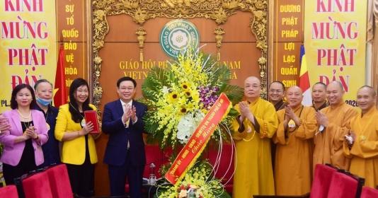 Bí thư Thành ủy Hà Nội Vương Đình Huệ chúc mừng Đại lễ Phật đản 2020