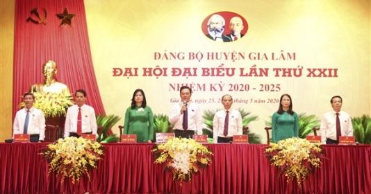 khai mac phien tru bi dai hoi dai bieu dang bo huyen gia lam lan thu xxii nhiem ky 2020 2025