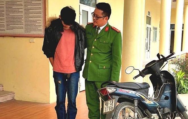 Đối tượng Quang gây ra vụ cướp tài sản ở Đan Phượng bị lực lượng chức năng bắt giữ ở Thanh Hóa (ảnh minh họa, nguồn IT)