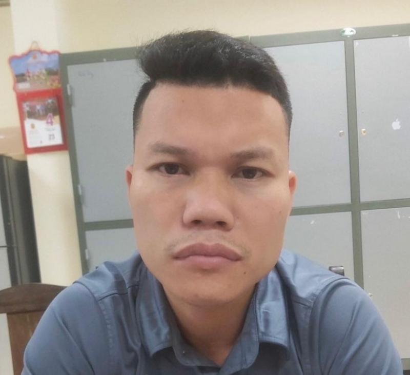 Đối tượng Vũ Văn Việt tại cơ quan công an