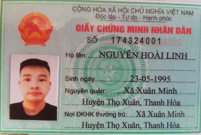 Chứng minh thư nhân dân mà Wei được một người Việt Nam đưa cho để sử dụng sau khi nhập cảnh trái phép vào Việt Nam