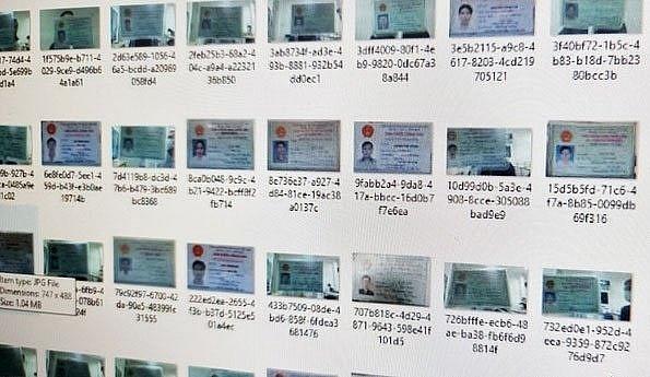 Bộ Công an đang kiểm tra vụ hàng nghìn CMND của người Việt bị rao bán trên mạng. Ảnh chụp màn hình, nguồn: BLĐ)