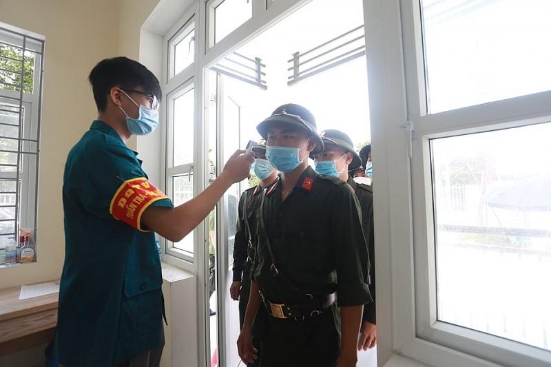 Công tác phòng, chống dịch bệnh Covid-19 được triển khai trước khi các chiến sĩ nghĩa vụ thực hiện quyền công dân