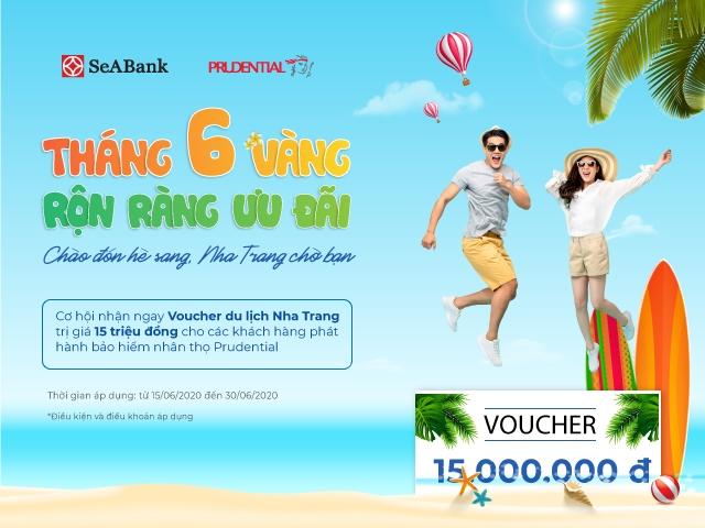 seabank tang voucher du lich 15 trieu dong cho khach hang mua bao hiem