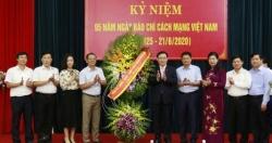 Bí thư Thành ủy Vương Đình Huệ thăm, chúc mừng Đài Phát thanh và Truyền hình Hà Nội và Báo Hànộimới