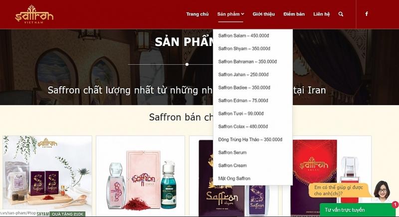 thuc hu san pham saffron doc quyen tai viet nam