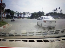 Từ tin báo qua mạng xã hội: Lái xe vượt đèn đỏ bị phạt 4 triệu đồng
