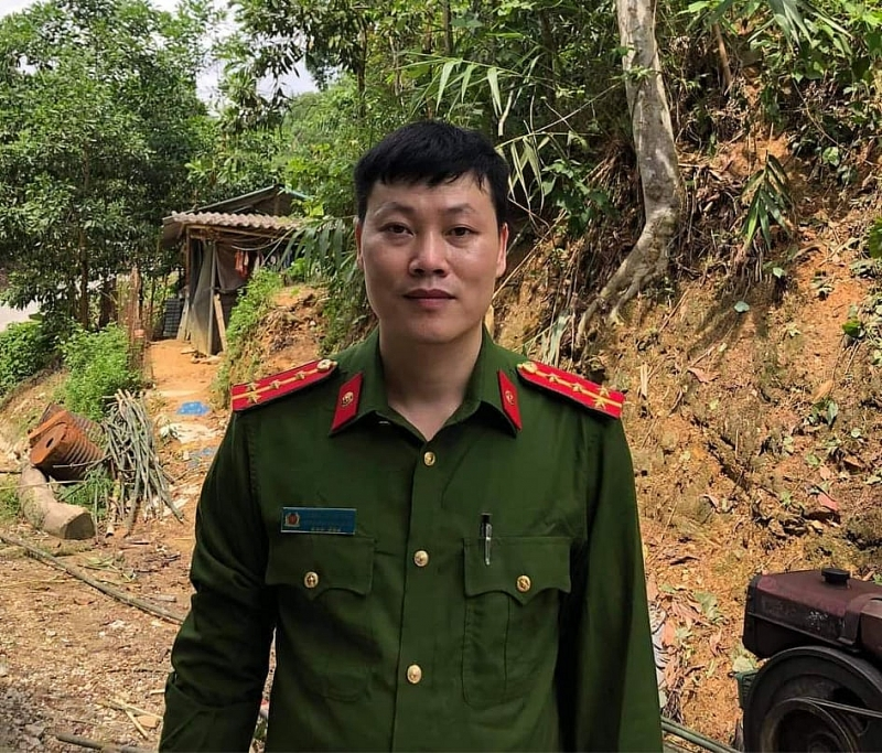 Phó trưởng Công an xã - Đại úy Hoàng Ngọc Hào